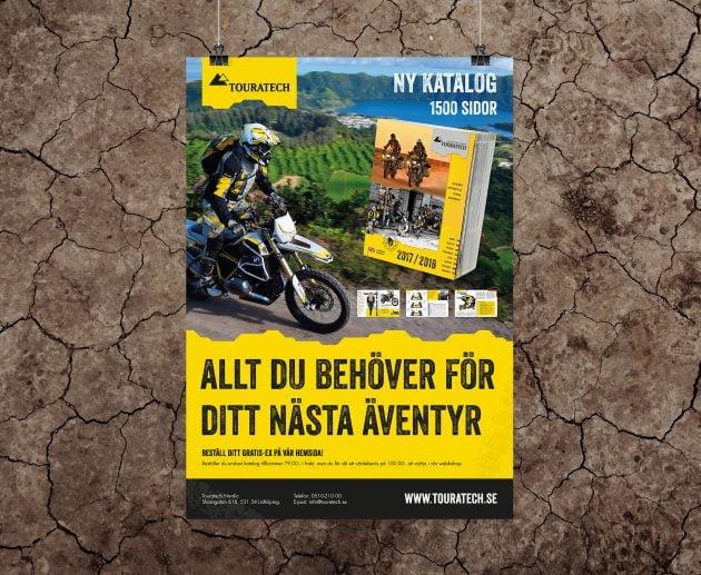 Annons för ny katalog till Touratech