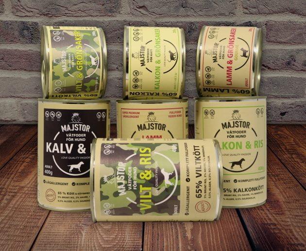Produktdesign av etiketter för konservburkar.