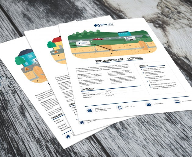Design av produktblad åt Svatek
