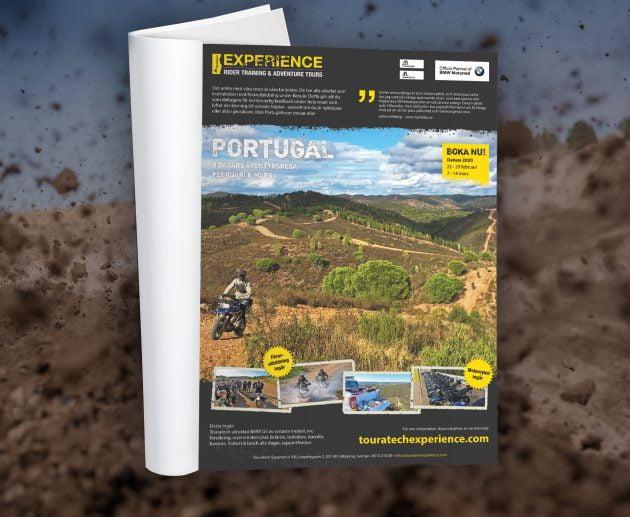 Annons för äventyrsresa på mc