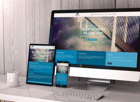 Webbsida åt juristfirma - baserad på Wordpress template