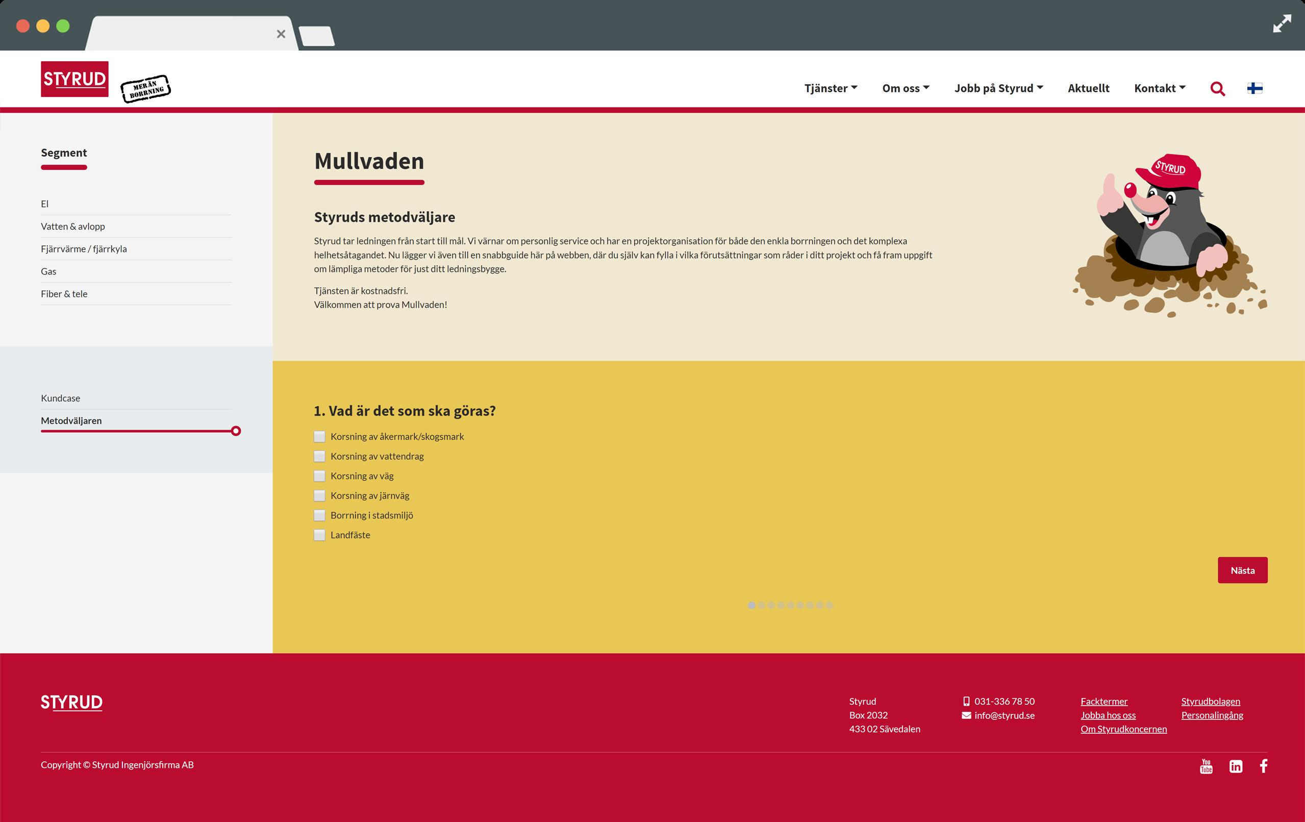 Webb baserad app för att välja rätt metod för borrning