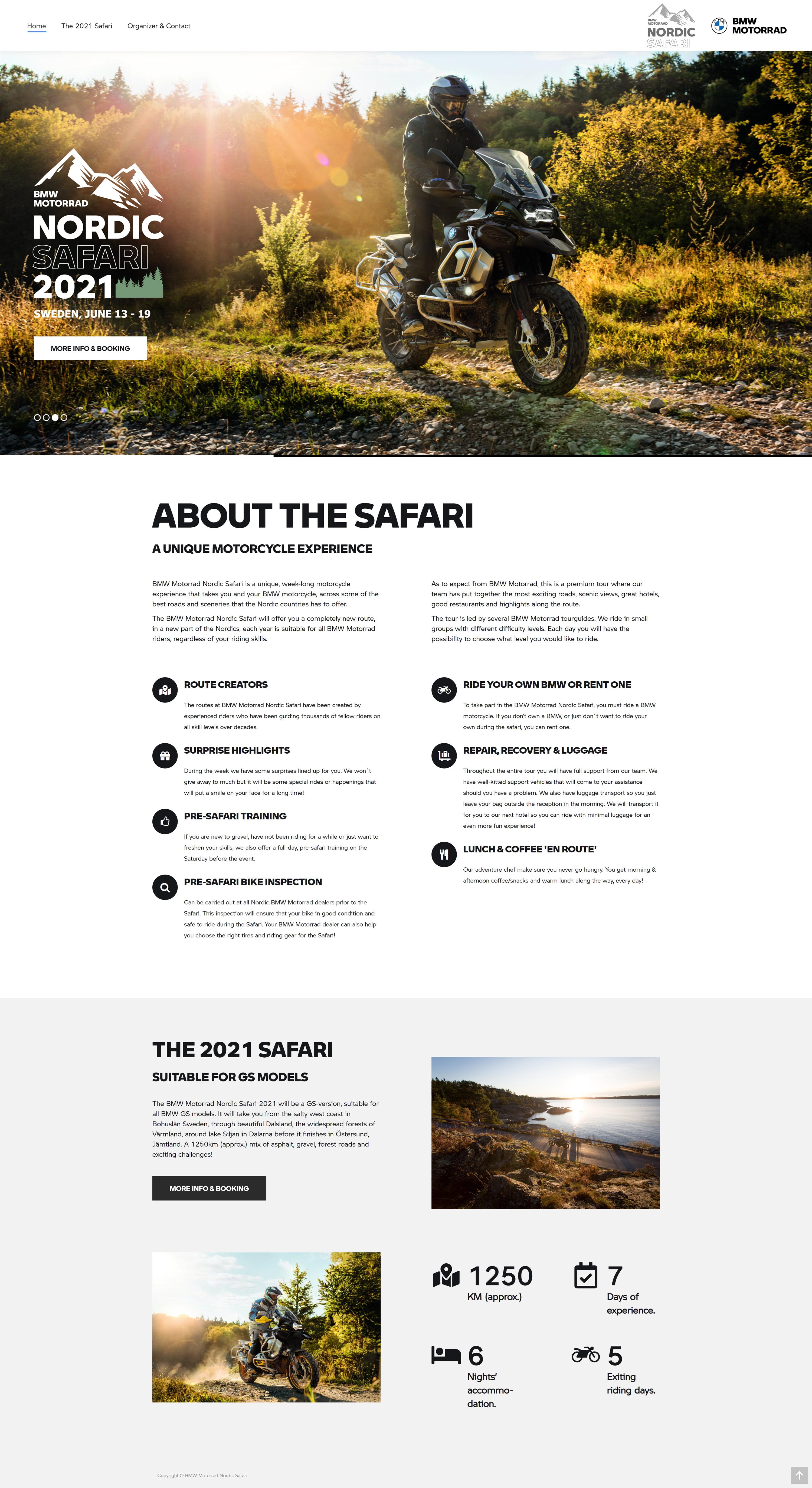 BMW Motorrad Nordic Safari - Home